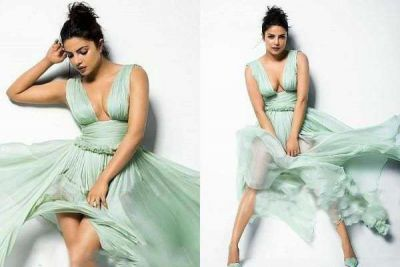 Priyanka Chopra gives an extremely erotic look; cleavage is seen...