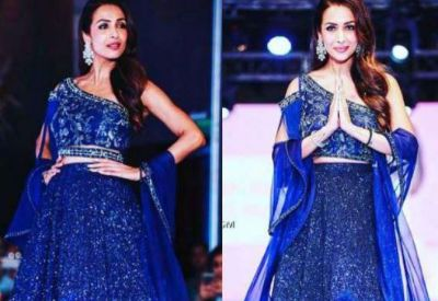 Malaika in blue Lehenga murdered fans by her looks!