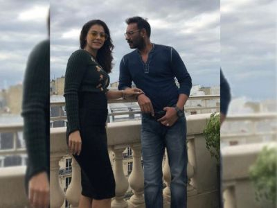 Ajay shares candid photo of Kajol with a cute caption