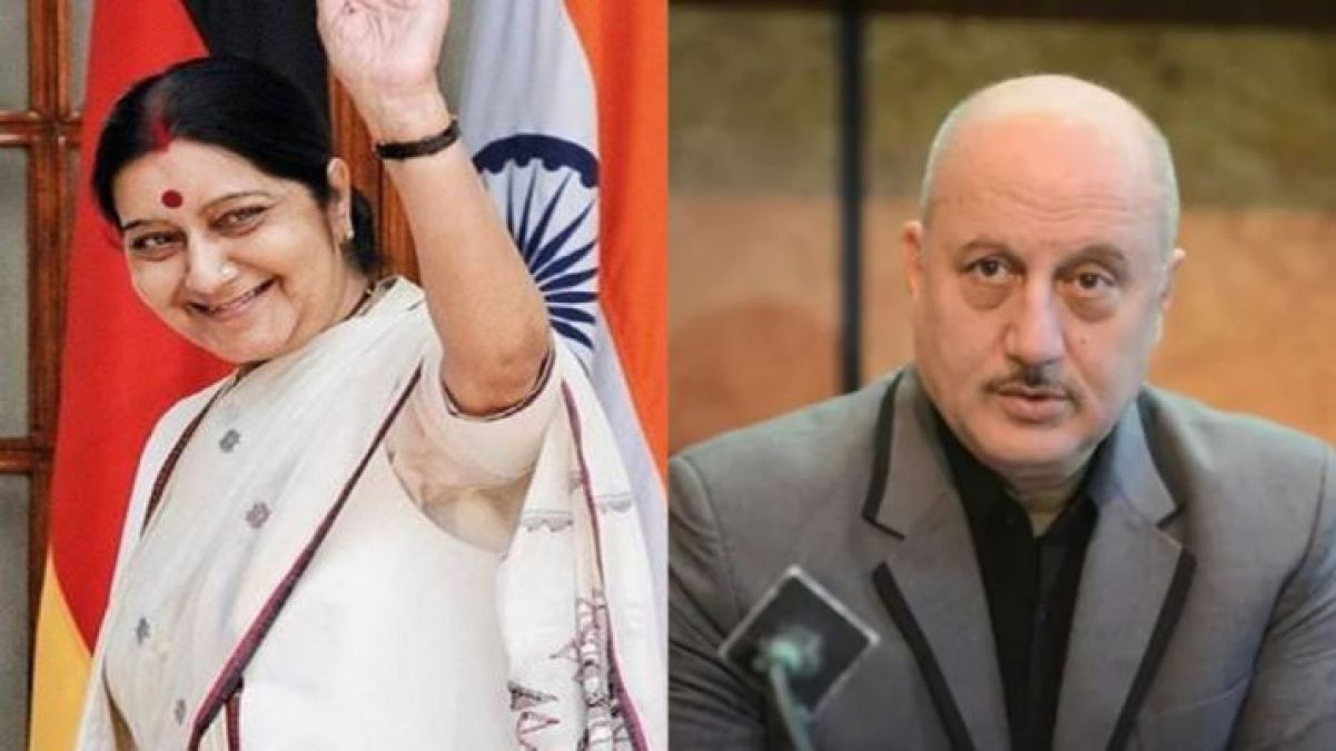 Anupam Kher gets deeply shocked by the passing away of Sushma Swaraj, said,