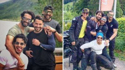 Along with brother Ishaan and Kunal, Shahid is seen having fun in abroad!