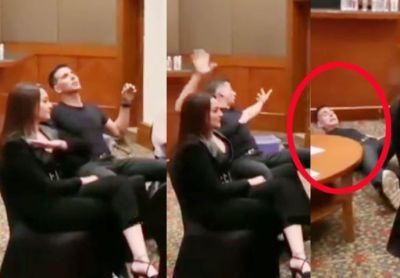 VIDEO: Akshay was given a strong push by this actress, he wobbled and fell to the ground!