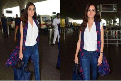 After separating from husband, Diya Mirza was spotted at the airport!