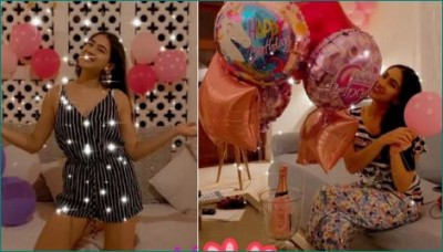 Sara celebrated her birthday in a very colorful way
