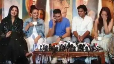 VIDEO: During the promotion, Akshay picked up the reporter's phone, saying,