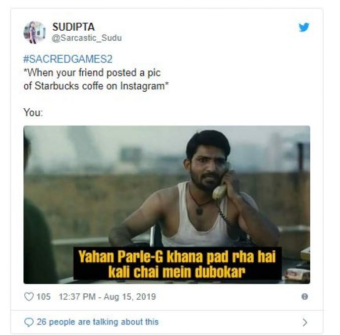 The memes of Sacred Games 2 are fiercely applauded, ridiculed on some stars like this!