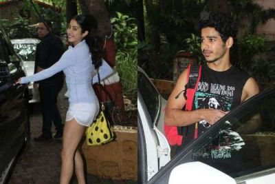 Without makeup, Janhavi looked hot with Ishaan Khattar!