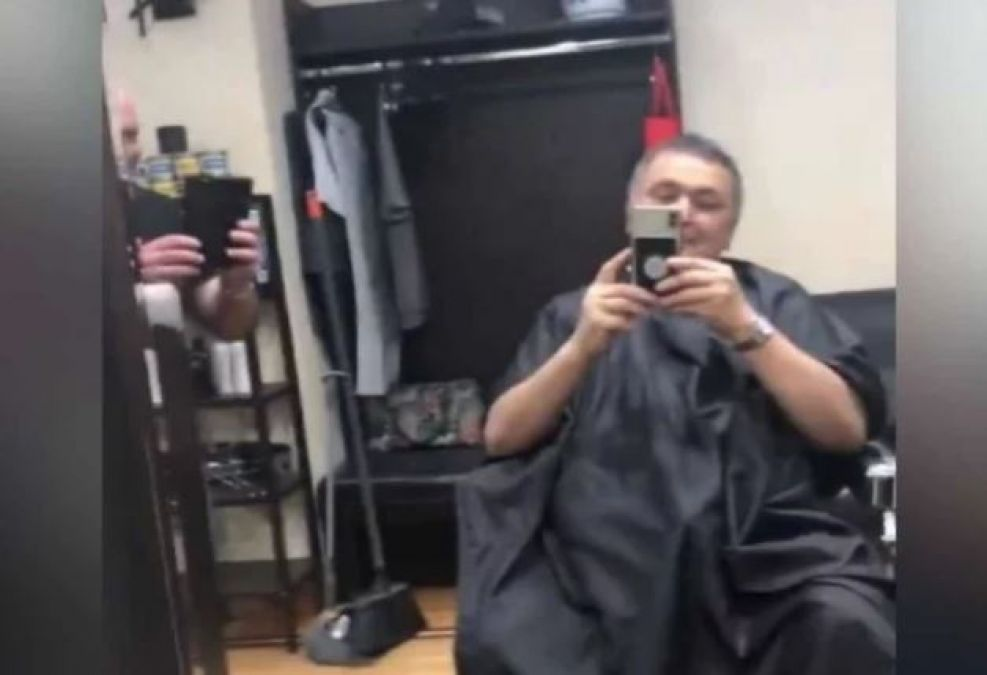 VIDEO: Rishi Kapoor, who arrived at a salon in New York, when identified did this work!