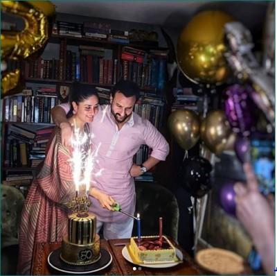 Kareena showered love on Saif's birthday, fans say