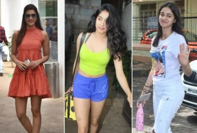 Several Bollywood stars like Ananya-Janhavi-Kriti caught on camera showing their swag!