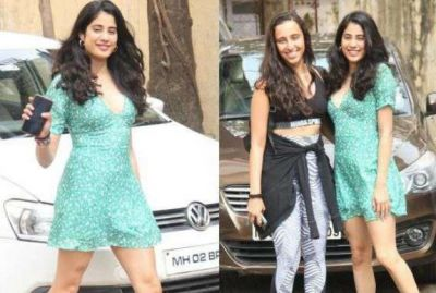 Janhavi along with her Gym trainer wreaks havoc in a short dress!