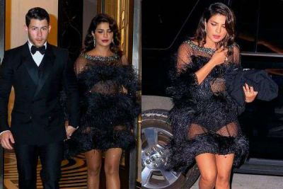 Priyanka was seen in a transparent dress holding hands of Nick Jonas!