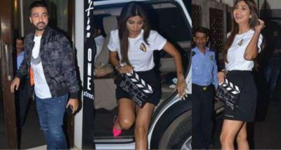 Shilpa Shetty steps out on dinner date with husband Raj Kundra