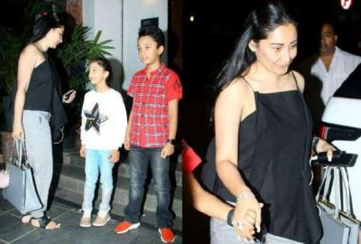 Sanjay Dutt's wife spotted with kids, check pics here