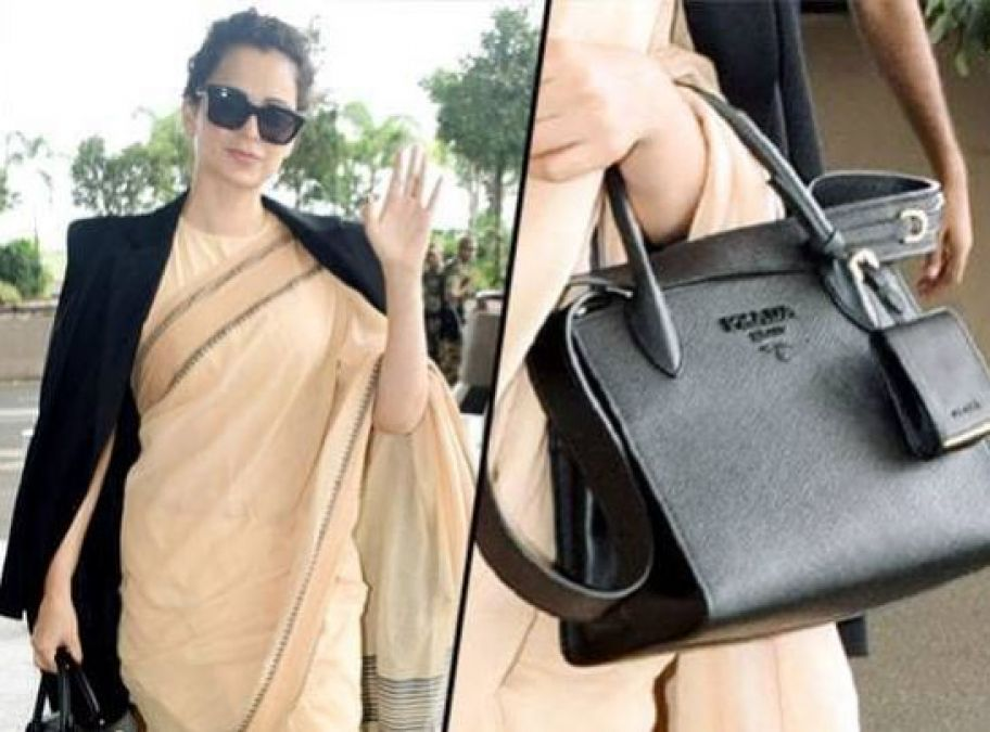 Kangana Carries such an expensive handbag with affordable sarees, know Price!