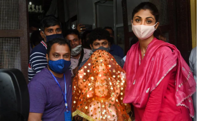 Shilpa Shetty welcomed Ganpati Bappa at home