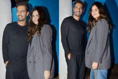 Arjun Rampal appeared with girlfriend in this Late Night Party, Fans get Shocked From the Couple's Look!