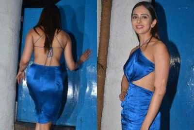 Rakul in a backless dress looked too hot, it will be hard to remove your eyes!