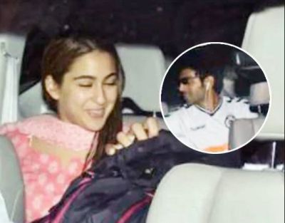 Sarah, who cannot live without Karthik, received the actor as soon as he arrived at the airport!