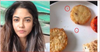 Insects found in dinner of a luxury hotel, the actress shared video
