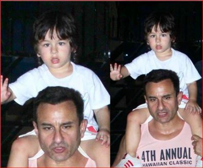 Saif got angry over the photographers who took pictures of Taimur!