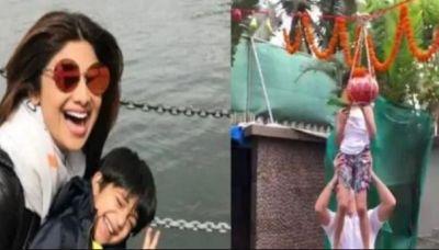 VIDEO: Shilpa Shetty celebrated Janmashtami with pomp, son Viaan breaks Dahi Handi