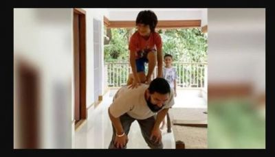 VIDEO: After sitting on Aamir's back, son Azad broke Dahi handi
