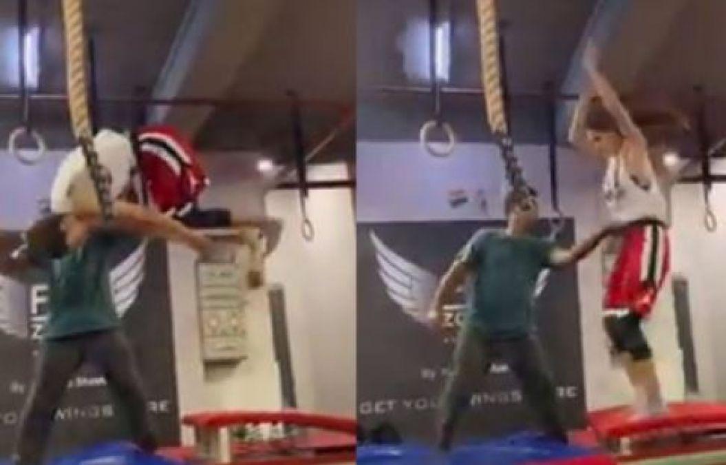Disha Patani fell while doing a stunt, See Viral Video!