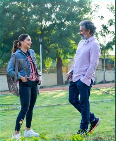 Alia Bhatt starts shooting for film 'RRR', photos surfaced