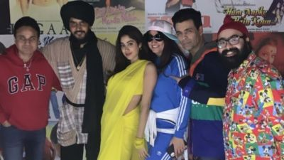 Janhvi shows up at Karan Johar's 90s theme party as Chandni