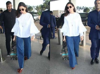 Actress Anushka Sharma spotted with a luxury bag at the airport, will be surprised to know its price