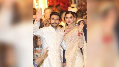 अम्बानी वेडिंग : देश की सबसे रईस शादी में इंडियन लुक में नज़र आये दीपवीर