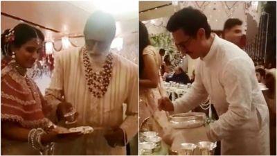 ईशा अंबानी की शादी में आमिर से लेकर अमिताभ तक सभी बने नौकर!