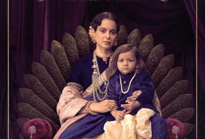 राजसिंहासन पर अपने बेटे के साथ बैठी हुईं नजर आईं कंगना रनौत