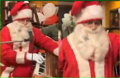 Anoop Jalota sings jingle bell by becoming Santa