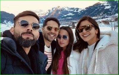 Beautiful coincidence with Anushka-Varun, reaches this place to celebrate New Year