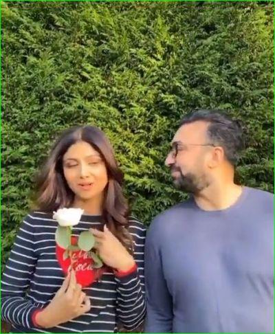Shilpa Shetty tributes the film Maine Pyaar Kiya with husband Raj Kundra by sharing the video