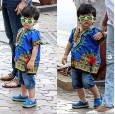 2000 रुपये का कुर्ता पहनकर मम्मी-पापा संग घूमने निकले छोटे नवाब तैमूर