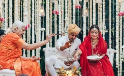 Dia-Vaibhav wedding conducted by a priestess
