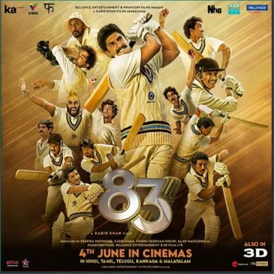Ranveer Singh reveals release day of film '83'