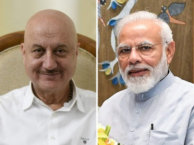 Prime Minister Modi pens letter for Anupam Kher after reading his new book