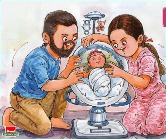 Amul ने विरूष्का की बेटी के स्वागत के लिए किया ये खास काम
