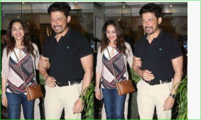 Madhuri Dixit appeared with her husband after a long time, see pic it here