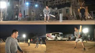 फिल्म की शूटिंग छोड़ क्रिकेट खेलने लगे भाईजान, शेयर किया वीडियो