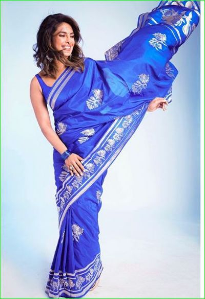 On seeing Priyanka in a blue saree, Nick commented-