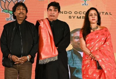 Bollywood's dream girl launches four songs for West Bengal's election campaign