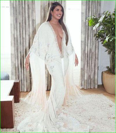 Priyanka Chopra is getting fiercely trolled for bold dress, users says- 'Jeth-Dewar Ke Samne Dikha Rahi...'