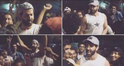 Hrithik performed 'Lagavelu Tu Lipstick' dance on the set of Super 30
