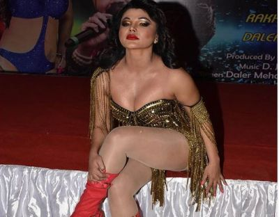Video: Rakhi Sawant flaunts her sexy leg and cleavage at the party