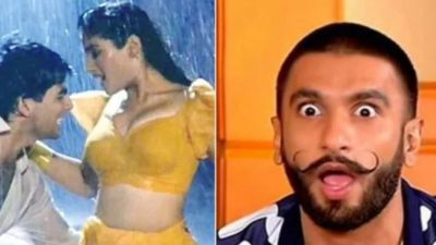 When Ranveer singh went out of control on seeing Raveena  Actres did this